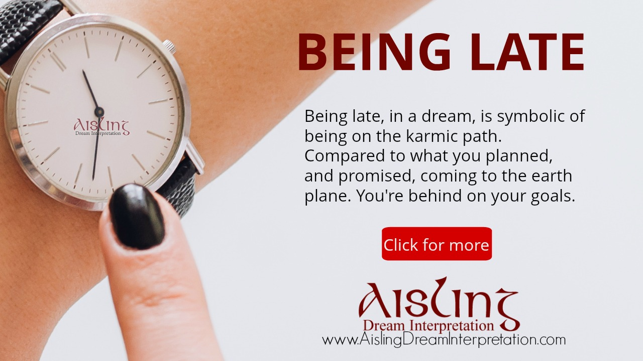 10 being late in a dream aisling dream interpretation 10 being late in a dream top ten most common dreams series biocorpaavc Choice Image