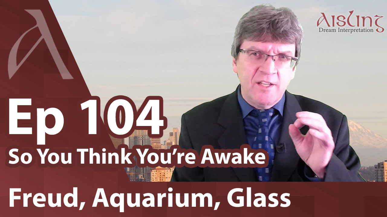 E104, Soapbox on Freud, Symbols: Aquarium, Glass Doors, Gifts, Dragons and Lions
